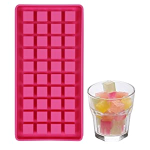 40 Mini Ice Cube Trays Easy Pop Out ice cube Maker Soft Silicone Non Stick Perfect For Party BBQ Garden BPA Free FDA Approved (Square ice)