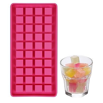 Casa Bonita bandeja de silicona antiadherente de 40 cubos de hielo pequeños, f&aacute