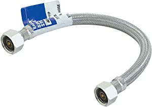 Eastman 48022 60-Inch Length Flexible Faucet Connector, Braided Stainless Steel Supply Hose Line, 1/2-inch FIP x 1/2-inch FIP