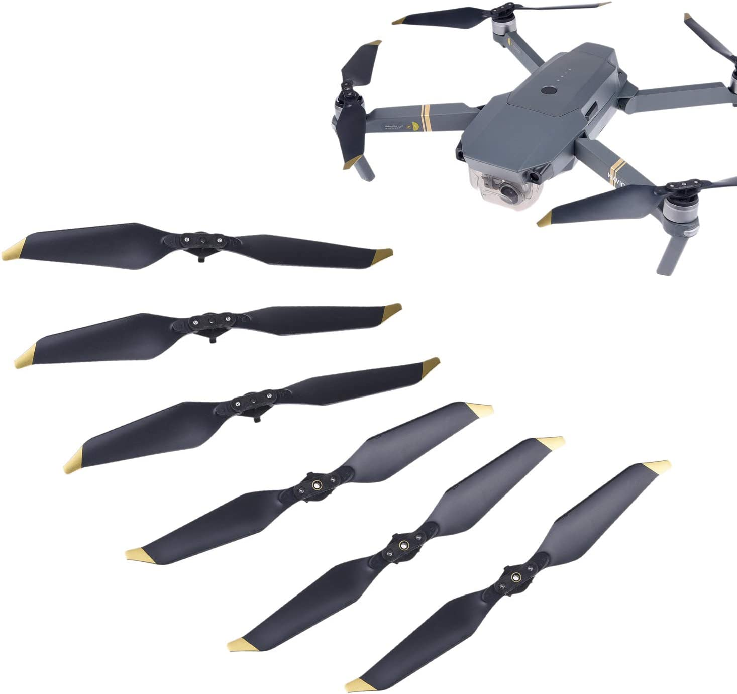 YIYIO 8Pcs for Drone Propellers Blades Wings Accessories Parts for Karma Black D.21