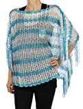 RI001 CHEVRON PATTERN SLEEVED PONCHO SCARF