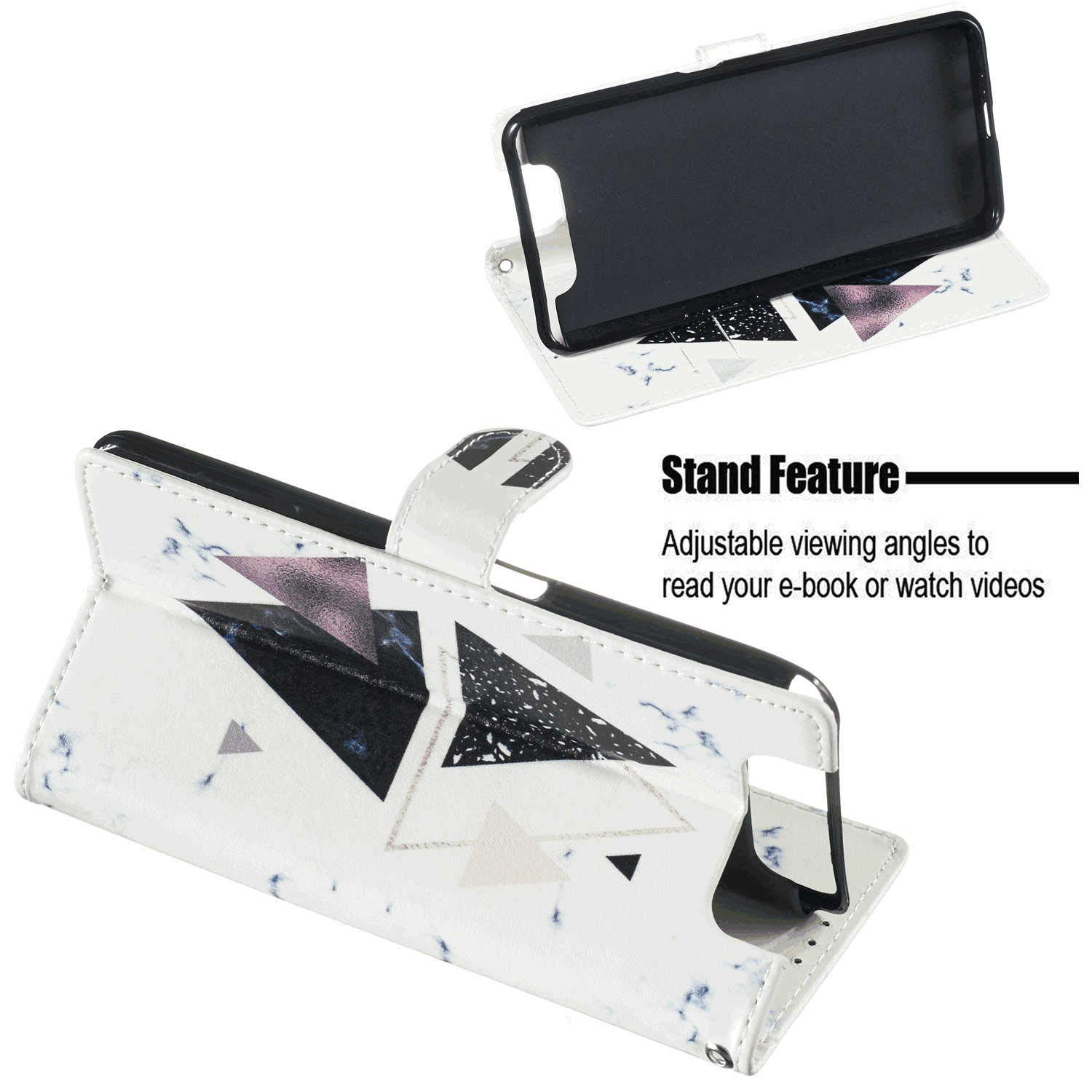 Cover for Huawei P30 LITE Leather Premium Business Card Holders Kickstand Cell Phone case with Free Waterproof-Bag Judicious Huawei P30 LITE Flip Case