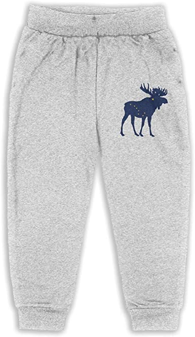 Boys Sweatpants Animal Moose Joggers Sport Training Pants Trousers Cotton Sweatpants for Youth