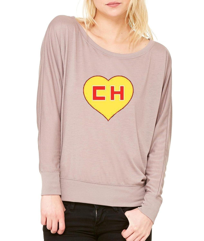 El Chapulin Colorado El Chavo Long-Sleeve Chespirito Flowy Shirt Mocha 1064