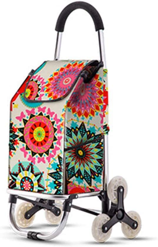 Can Be Used to Climb Stairs YLYWCG Folding Portable Shopping Cart Picnics Etc. Shopping Load 50 Kg