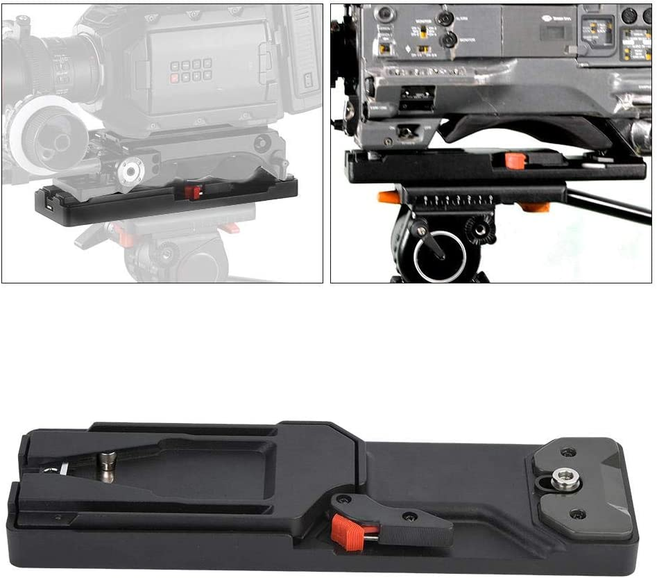 Acouto Tripod Plate VCT-14 Aluminium Alloy Mounting Screw Tripod Monopods Quick Release Plate for Camera DSLR