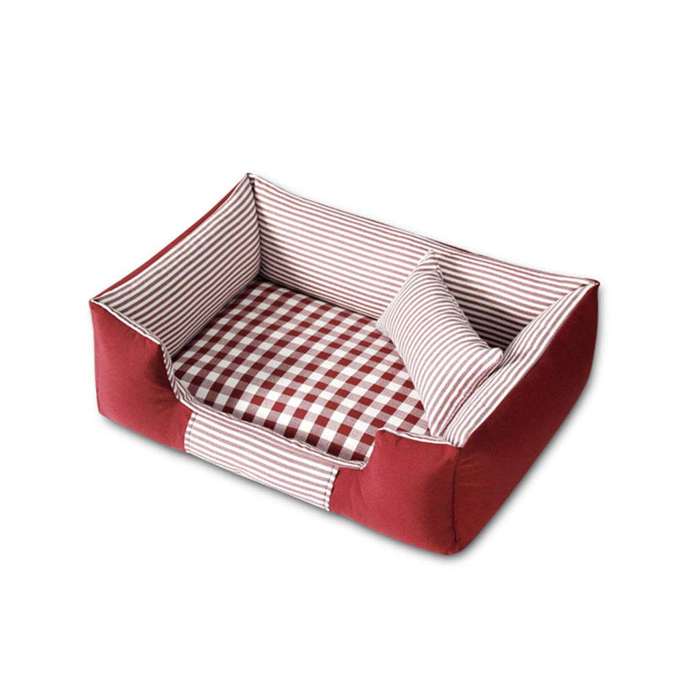 Red Large Red Large Pet Wo Home Textile Canvas Mattress Suitable for dogs, cats, etc. Four seasons available Pet nest (color   RED, Size   L)