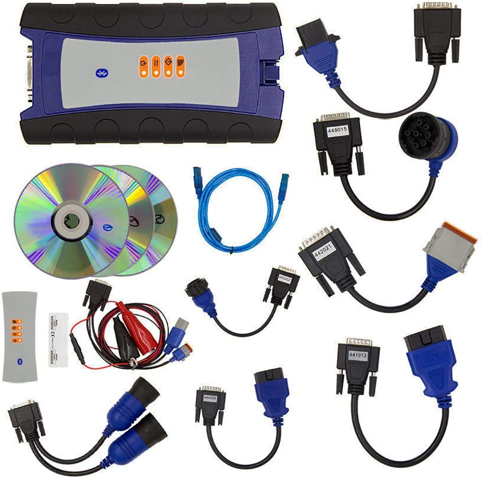 HZGrille Diagnostic Tool for Trucks, Supporting Heavy, Light and Medium Trucks, Construction Equipment Such As Loaders and Excavators, with Bluetooth