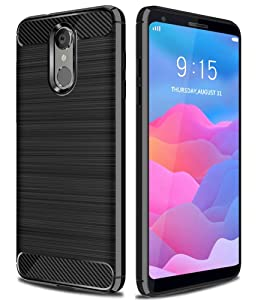 LG Q7 Plus Case, LG Q7+ Case, LG Q7 Case, Asmart Resilient Shock Absorption LG Q7 Plus Phone Case Slim Flexible TPU Cover Soft Light Weight Protective Case for LG Q7 Plus/LG Q7a (Black)