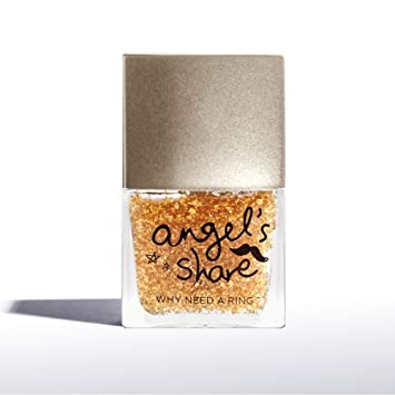 ANGELARIEL 24K Gold Leaf Top Coat, Glitter Gold Flake, Nail Polish Sparkle  Every Day, 14 Free...