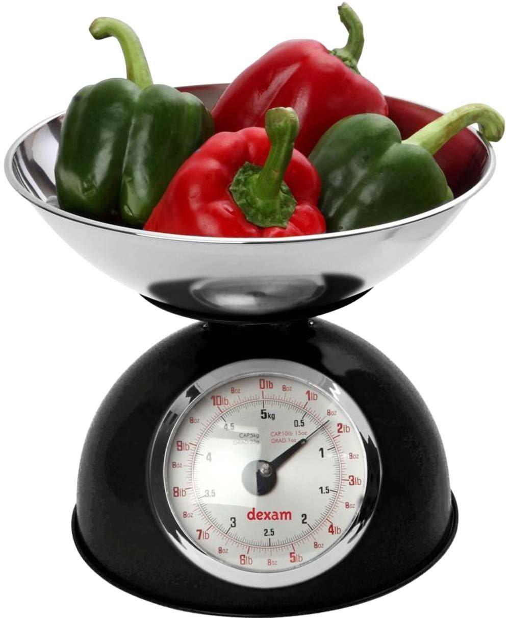 Retro Kitchen Scale Black Dexam 17848101