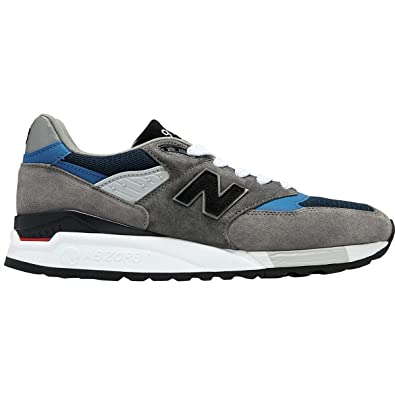 classic fit e0877 a8ae2 Amazon.com | New Balance Men's Made in USA Grey/Blue M998nf ...