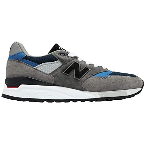 classic fit 31b6a d5963 Amazon.com | New Balance Men's Made in USA Grey/Blue M998nf ...