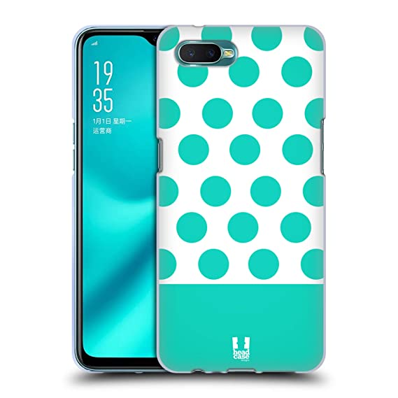 Amazon.com Head Case Designs Teal and White Dots Nail Art