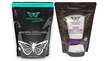 Trim Healthy Mama Integral Collagen 16oz Bag &Super Sweet Blend™: (Erythritol & Stevia