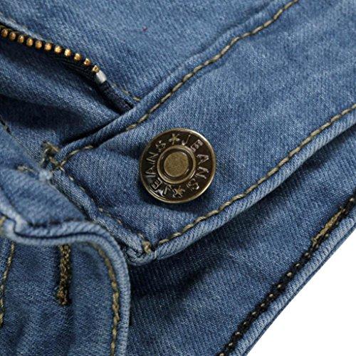 Blu Slim Strappati Stretch Pants Jeans Jeans A Skinny Donna Ashop Pantaloni Alta Vita 7vFCw6q