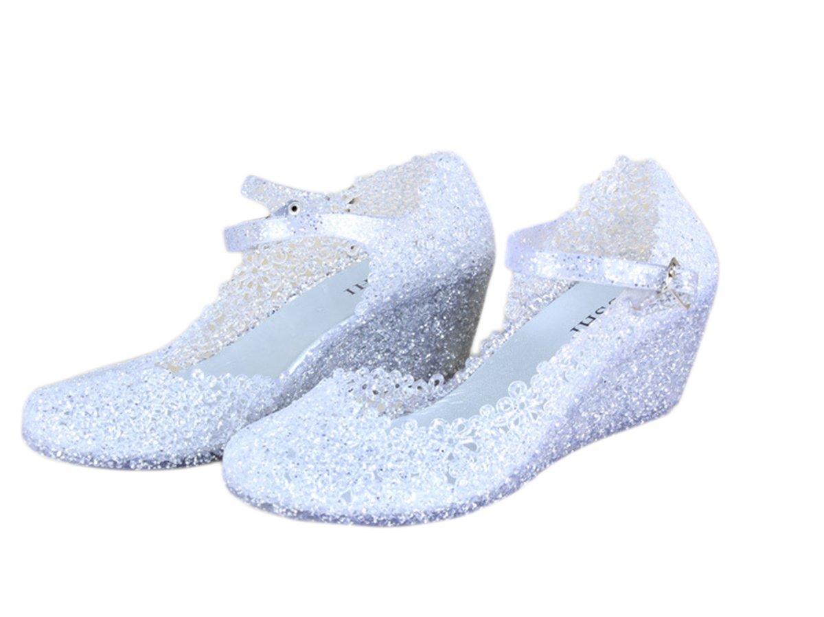 Topfly Vogue Ladies Crystal Jelly Sandals Mary Jane Big Shot Wedges Shoes B07C7RR3NV US5/AU5/UK3/EUR035/CN37/Centimeters23.5|White