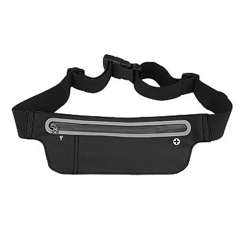 c98e910069 King of Flash Black Running Gym Cycling Adjustable Waist Bum Bag Belt  Neoprene Single Zipper Pouch