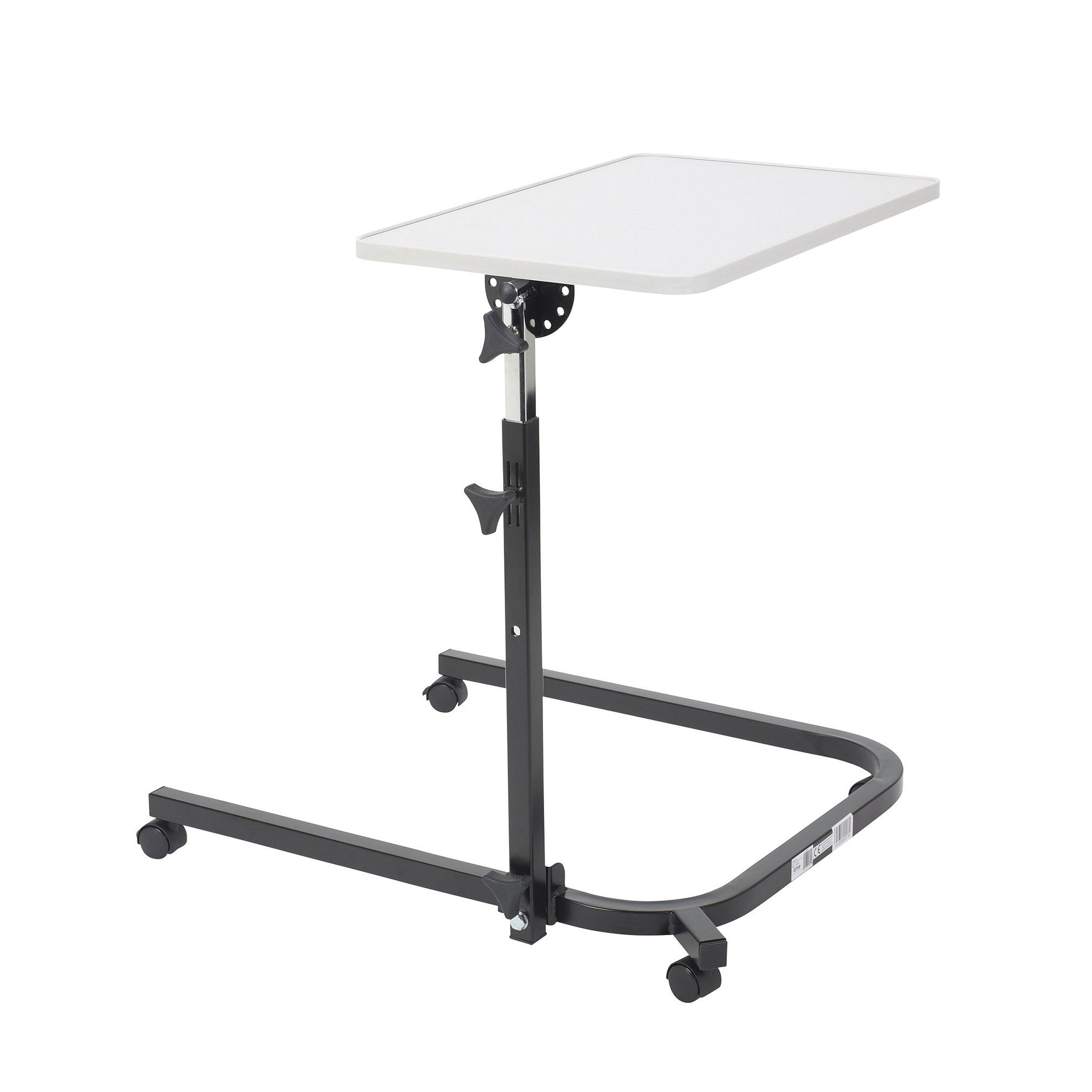 Drive Medical Pivot and Tilt Adjustable Overbed Table
