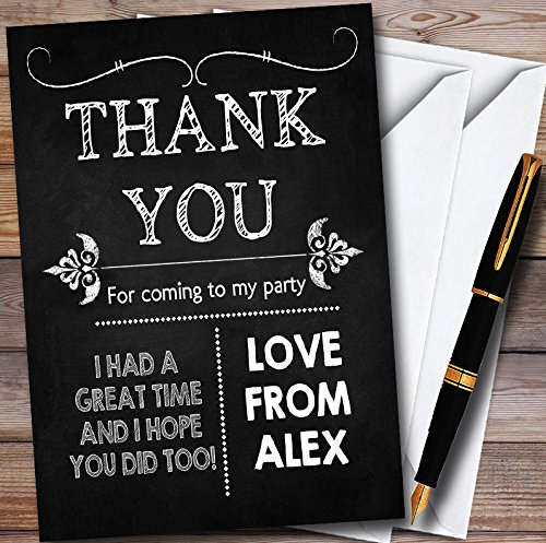 10 x Chalk Style Vintage Personalized Halloween Personalized Halloween Party Thank You Cards