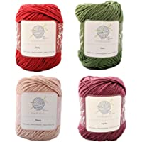 Flora mindfulknits Knitting Yarn, Crochet Yarn & 100% Cotton Yarn for Knitting, Crocheting, Soft & Gentle Worsted Weight…