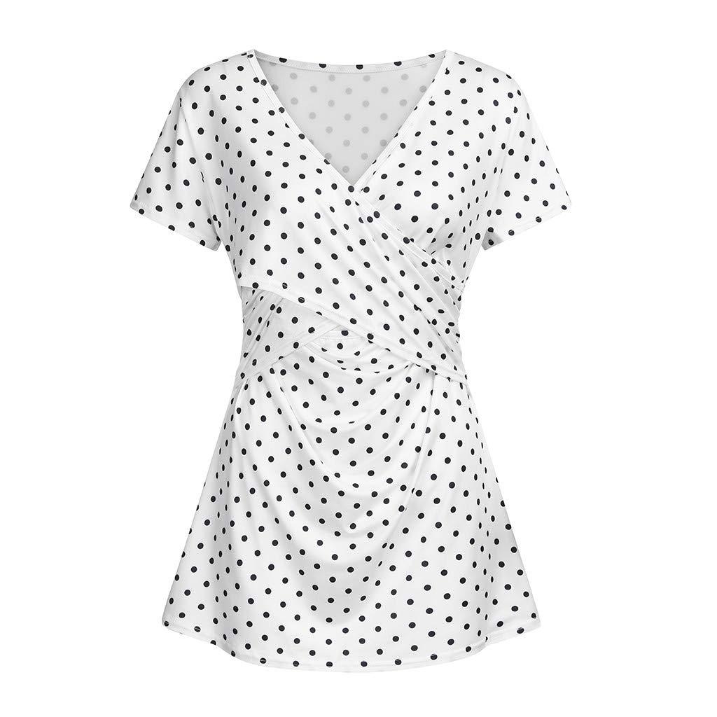 HEV/ÜY Damen Stillzeit Umstandsshirt Umstandstop Langarm Stillshirt Mama Schwangerschaft Kleidung Umstandsmode T-Shirt
