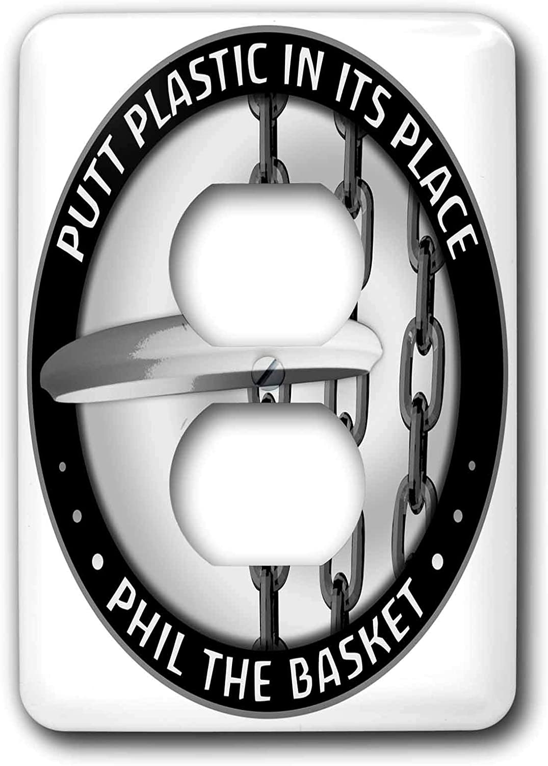 3drose Lsp 18150 6 Phil The Basket 2 Frisbee Disc Golf Putter Thrown Into The Chains Of A Basket 2 Plug Outlet Cover Outlet Plates Amazon Com