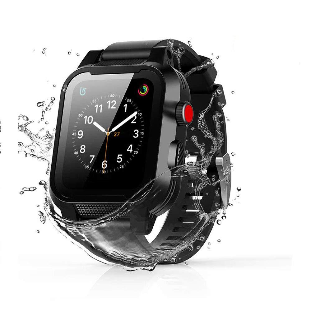 Waterproof Apple Watch Case 38mm Compatible with Apple Watch Band 38mm TPU iwatch Waterproof Case Series 3/2 Woman Man Sport Smartwatch Case