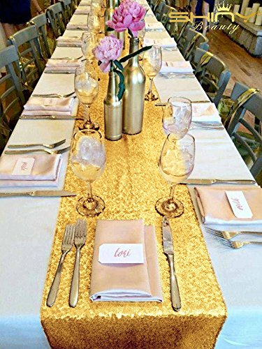 Thing need consider when find gold sequin table runners 120?