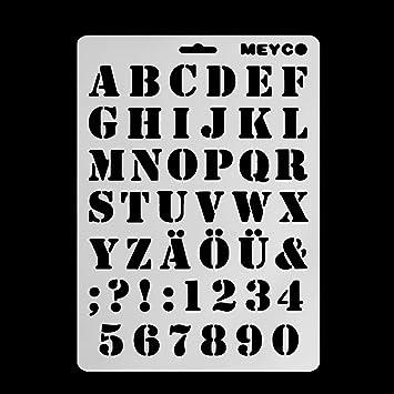 Plantillas de dibujo de letras del alfabeto Runrain para pintar en la pared, álbum de álbumes de recortes: Amazon.es: Oficina y papelería