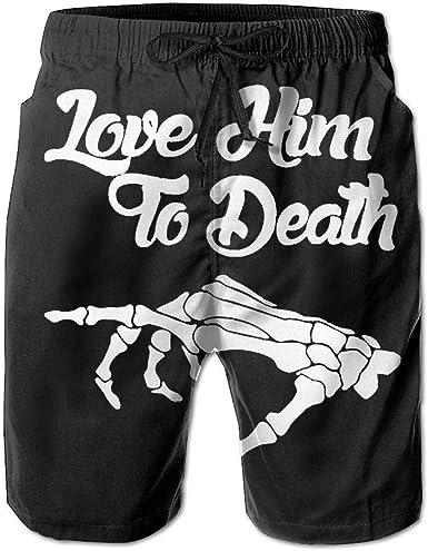 Mens Quick-Dry Swimwear I Love Soccer Swim Trunks Board Beach Shorts