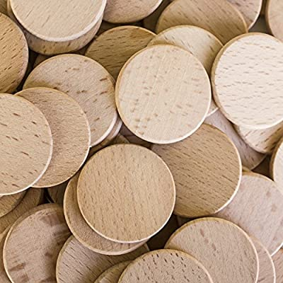 "Round Unfinished 1.5"" Wood Cutout Circles Chips for Arts & Crafts Projects, Board Game Pieces, Ornaments (100 Pieces) by Super Z Outlet from Super Z Outlet®"
