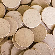 "Round Unfinished 1.5"" Wood Cutout Circles Chips for Arts & Crafts Projects, Board Game Pieces, Ornaments (100 Pieces) by Super Z Outlet"