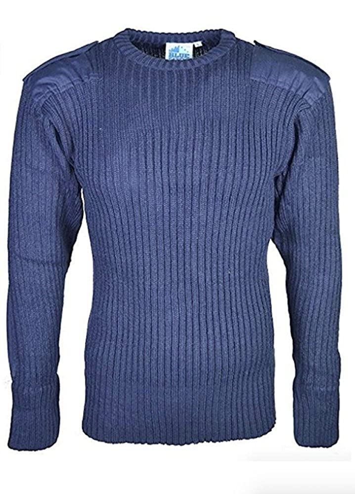 Castle Clothing Mens Army Security Jumper Pullover Crew Neck Long Sleeves Knitted Top