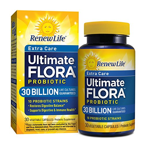 Ultimate Flora Extra Care Probiotic Supplement Vegetable Capsules - 30 Ct