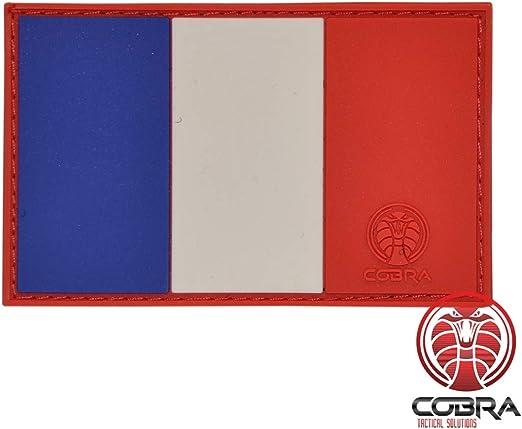 Cobra Tactical Solutions - Parche Militar de PVC Bandera de Francia/Bandera Francesa con Cierre de Velcro para Airsoft, Paintball, Ropa táctica y Mochila: Amazon.es: Amazon.es