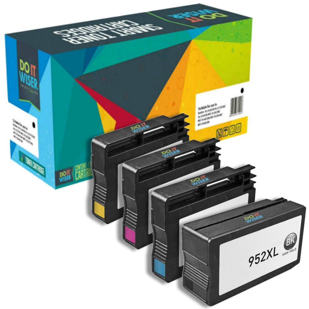 Do it Wiser Remanufactured Ink Cartridge Replacement for HP 952XL 952 for HP OfficeJet Pro 8710 8720 8715 8725 8740 8730 8210 8216 7740 7720 (Black Cyan Magenta and Yellow, 4 Pack)