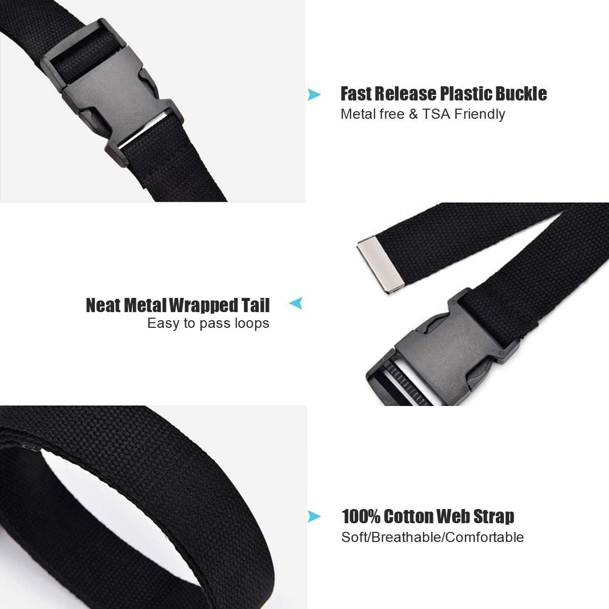 Cool Cargo Belt with Plastic Buckle XZQTIVE Canvas Web Belt for Women Hip Hop Streetwear Style Waist Belt for Dress