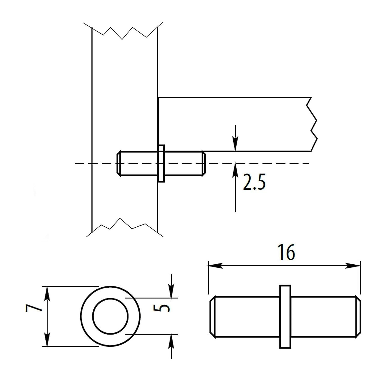 100 x SO-TECH/® Bodentr/äger Steckbodentr/äger Sekura II
