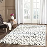 Safavieh Evoke Collection EVK498D Vintage Chevron Cream and Blue Area Rug (4′ x 6′) Review