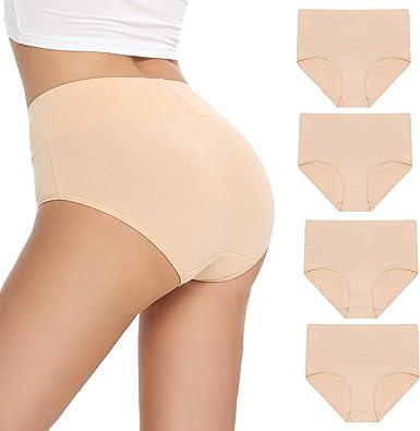 Falechay Unterhosen Damen Unterw/äsche Bauchweg Baumwolle Slips Damen Pantys High Waist Taillenslip Mehrpack 5er Pack