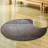 Small round rug Carpetrust steel metal texture with rivets as steam punk background door mat indoors Bathroom Mats Non Slip-Round 24''