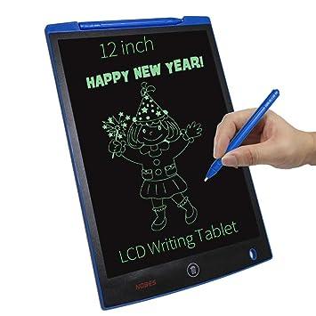 NOBES Tablets de Escritura LCD 12 Inch, Tablero de Dibujo & Mensaje Digital LCD, Pizarra Magica, Memo Pad Electrónico con Lápiz Táctil de Notas para ...