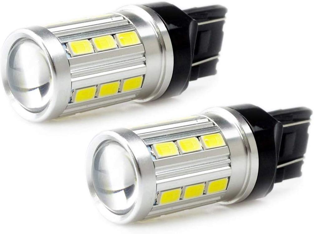 2 Pcs W21W 582 7440 Super White Sidelight Daytime Running Lights DRL Bulb Canbus