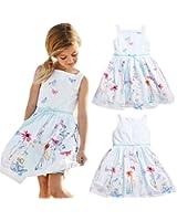 FEITONG 2017 Kids Girls Floral Butterfly Print Princess Dress