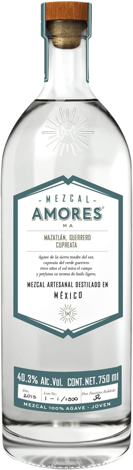 Mezcal Amores Mazatlan Guerrero Cupreata 70cl: Amazon.es: Alimentación y bebidas