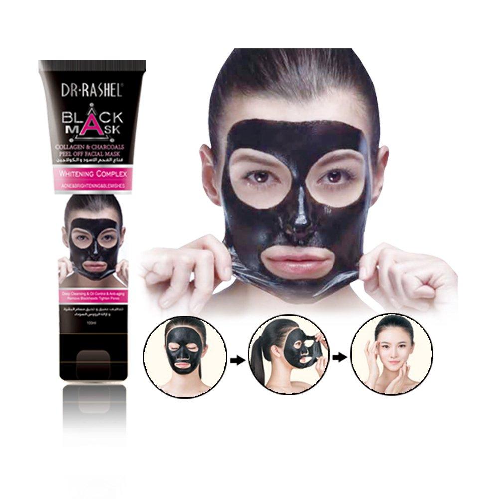 DR.RASHEL Black Mask Charcoal Blackhead Remover Peel Off Face Mask Deep  Cleansing- Buy Online in Pakistan at desertcart.pk. ProductId : 45817751.