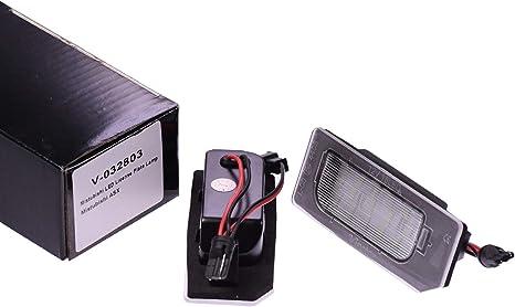 Vinstar Led Kennzeichenbeleuchtung E Geprüft Canbus 18 Elektronik