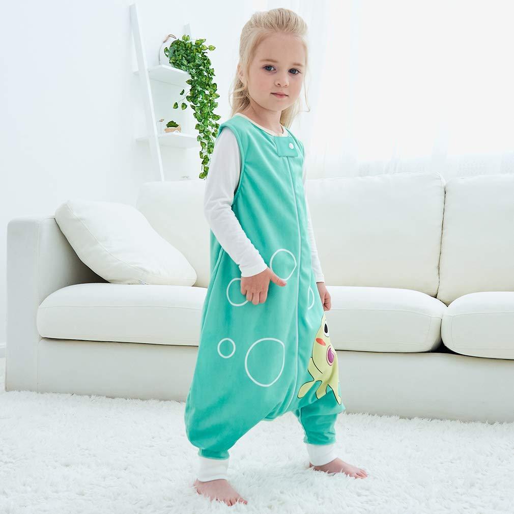 MICHLEY Disfraz Animal Bebe Saco Dormir ni/ño y ni/ñapijama ropa de bebe Ideal para Entretiempo e Invierno,azul 5-6 Jahre