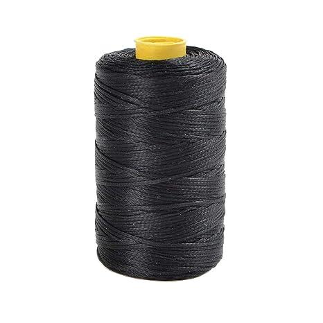 Hilo de nailon encerado para costura de piel, 99,66m x 1